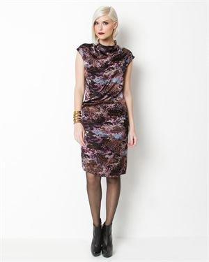 Yves Saint Laurent Cap Sleeved Printed Silk Dress- Made in Italy