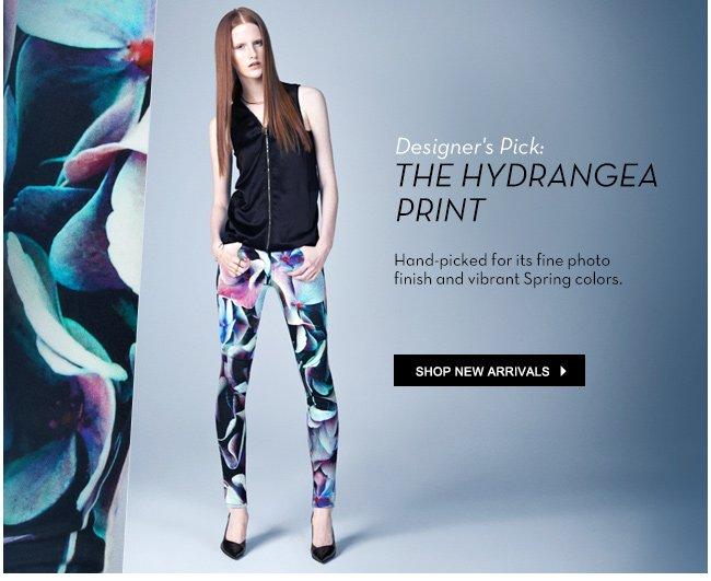 the hydrangea print