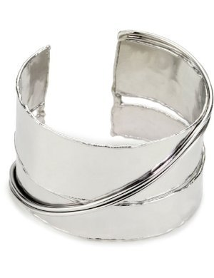 Devon Leigh <br/>Hammered Slit Cuff Bracelet