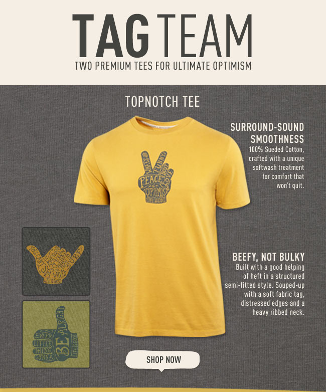 Tag Team - Two Premium Tees For Ultimate Optimism