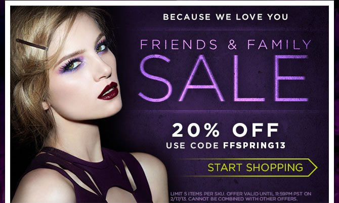 Friends & Family Sale - 20% Off - Use Code FFSPRING13 - Start Shopping >