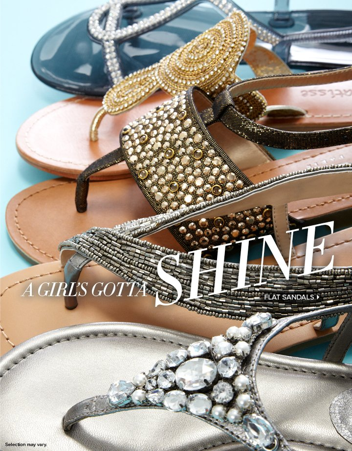 Jewels, stones, shimmer--these sandals