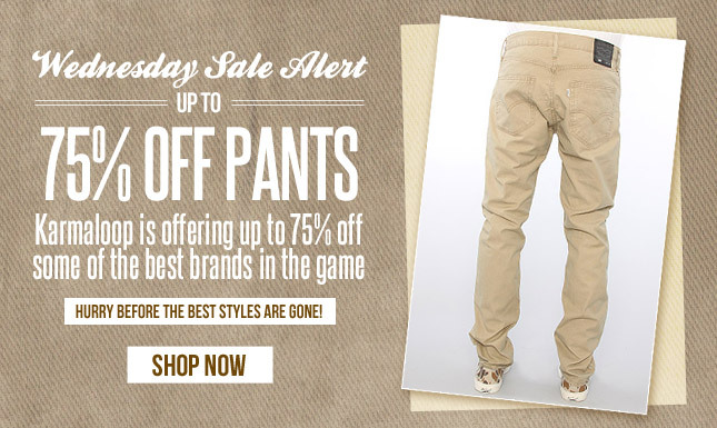 Up to 75% Off Pants Sale on KL!