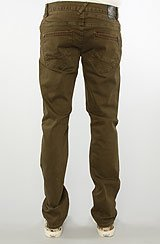 The Counterpoint Slim Straight Fit Pants in Olive Jam