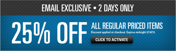 25% off all regular priced items
