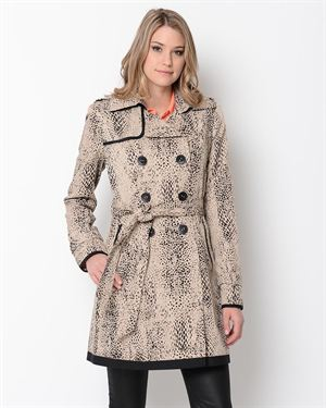 Ivanka Trump Printed Double Breasted Trench Coat