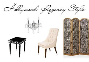 Hollywood Regency: Lighting, Furniture & More