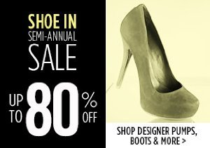 UP TO 80% OFF: DESIGNER PUMPS, BOOTS & MORE