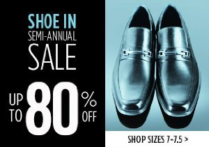 UP TO 80% OFF SIZES 7-7.5