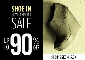 UP TO 90% OFF SIZES 4-5.5