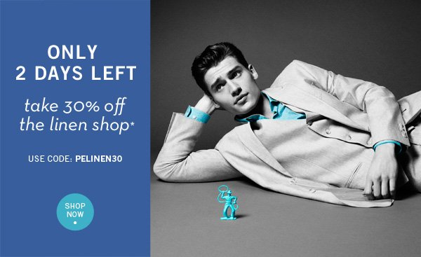 4 DAYS ONLY- 30% Off The Linen Shop