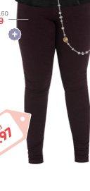Moleton Rhinestone Skinny Pant