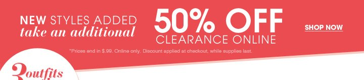 Shop 60% Off Clearance