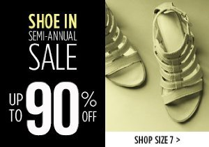 UP TO 90% OFF SIZE 7