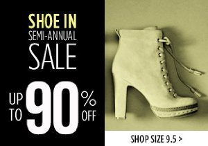 UP TO 90% OFF SIZE 9.5