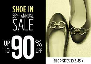 UP TO 90% OFF SIZES 10.5-13