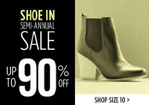UP TO 90% OFF SIZE 10