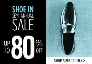 UP TO 80% OFF SIZES 10-10.5