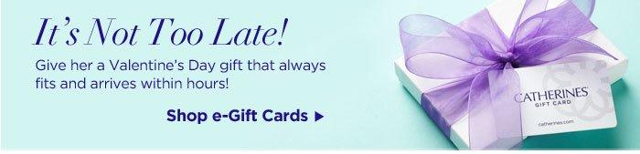 Shop e-Gift cards now!