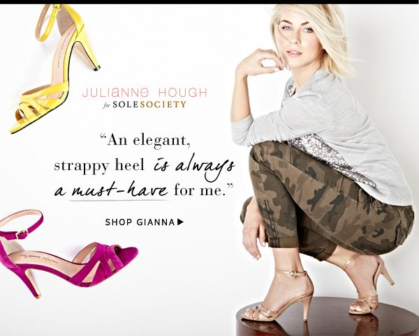Julianne Hough for Sole Society Gianna