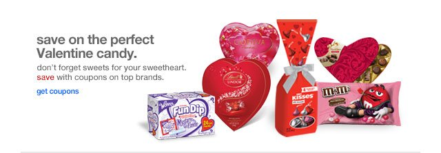 Save on the perfect Valentine candy.