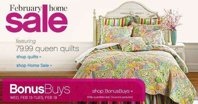 February Home Sale. Shop HomeBonusBuys.