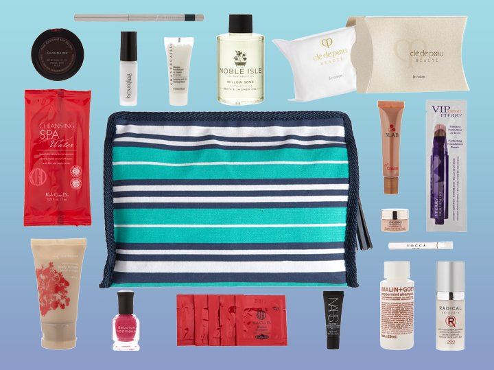 Spend $200 on cosmetics and  fragrances and receive a cosmetics bag filled with our favorite  products!