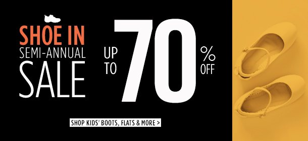 UP TO 70% OFF: KIDS' BOOTS, FLATS & MORE