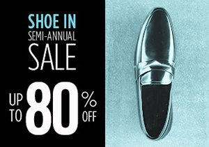 UP TO 80% OFF MEN'S SHOES