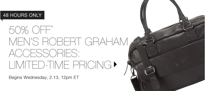 50% Off* Men's Robert Graham Accessories…Shop Now