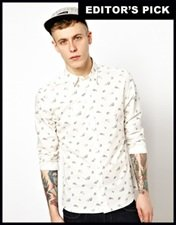 ASOS Shirt With Aeroplane Print