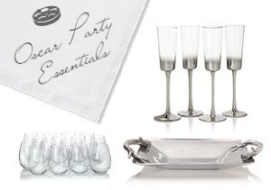 Oscar Party Essentials from Flutes to Trays