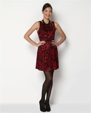 Cynthia Steffe Pleated Rose Printed Dress $109