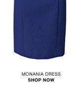 Monania stretchy lace-detail dress