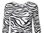Husia zebra printed jersey dress
