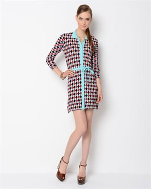 Bonnie and Bill Checkered Sweater Dress