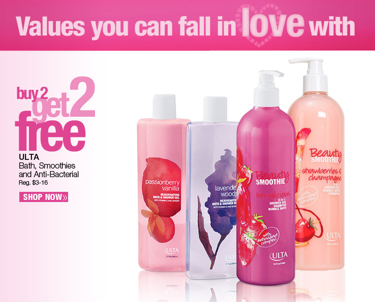 Buy 2, Get 2 Free ULTA Bath, Smoothies and Anti-Bacterial Reg. $3-16.