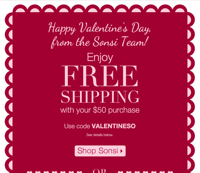 Shop Sonsi Enjoy Free Shipping