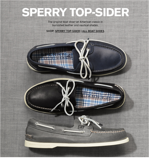 SPERRY TOP-SPIDER - The original boat shoe—an American classic in burnished leather and nautical shades.