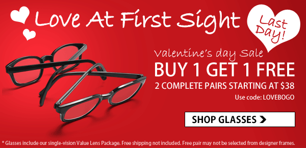 Valentine's Day Sale - Buy 1 Get 1 FREE!