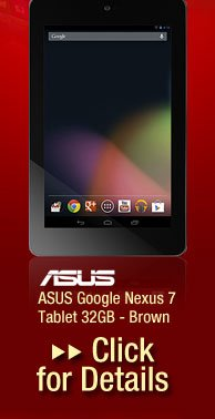 ASUS Google Nexus 7 Tablet 32GB - Brown