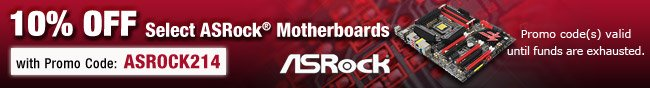 ASRock - 10% OFF Select ASRock Motherboards with Promo Code: ASROCK214.