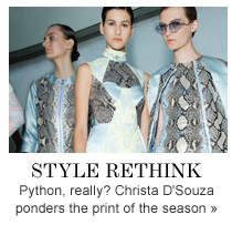 STYLE RETHINK Python, really? Christa D'Souza ponders the print of the season