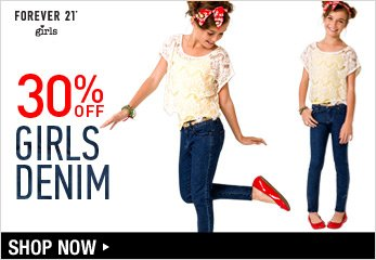 30% Off Girls Denim - Shop Now