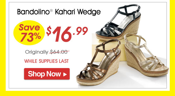 Bandolino® Kahari Wedge - Save 73% - Now Only $16.99 Limited Time Offer