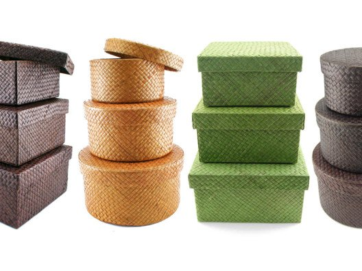 The time has come to ditch the set of plastic drawers you've had since college—and replace it with these handsome, hand-woven square or round storage boxes.