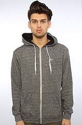 The Core Basics Zip Hoody in Black Heather