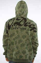 The Big Script Hoody in Rain Camo