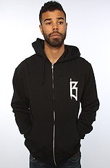 The Funeral Service Zip Hoody in Black