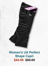WOMEN'S UA PERFECT SHAPE CAPRI - $44.99